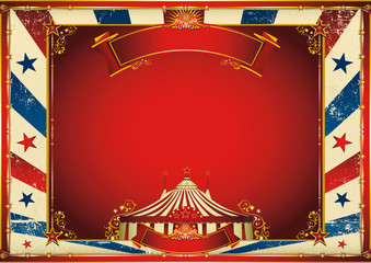 vintage horizontal circus background with big top