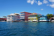 Colorful Caribbean buildings over the water - 61200071