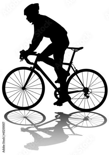 Foto op Plexiglas Fietsen Cyclists man