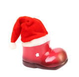 Santa's hat on xmas boot.