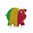Piggy bank with flag coating over it - Mali