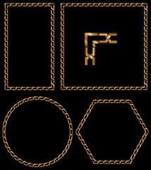Altın Zincir Çerçeve Frame