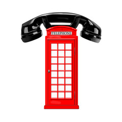 Telephone box and handset