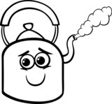 kettle and steam coloring page