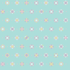 Vector floral seamless pattern, blurred, soft effect.