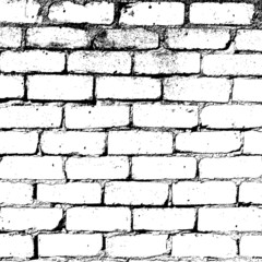 White Brick Wall Texture