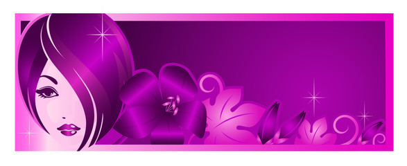 Banner template for beauty salon or advertising