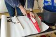 canvas print picture - Renovierung Tapezieren