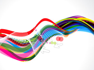 Colorful Wave With Dotts