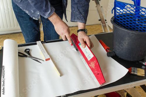 canvas print picture Renovierung Tapezieren