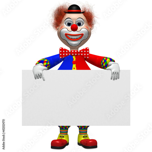 Clown mit Banner
