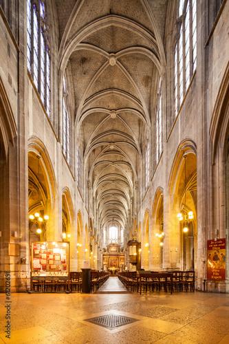 canvas print picture Saint-Nicolas des Champs in Paris