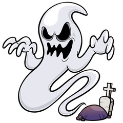 Vector illustration of Ghost cartoon