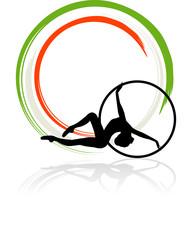 Logo Italia ginnastica ritmica - Cerchio