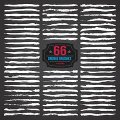 66 VECTOR GRUNGE BRUSHES SET