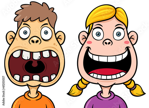 Vector illustration of Kids decayed tooth