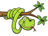 Vector Illustration of Cartoon Snake