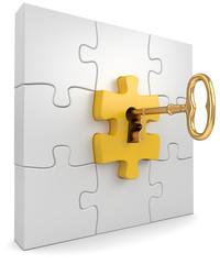 Schlüsselloch Puzzleteil