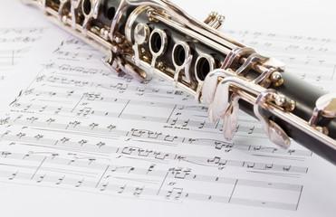 Klarinette mit Noten