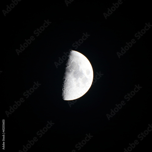 isolated background of half moon at night