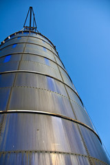Grain silo storage.