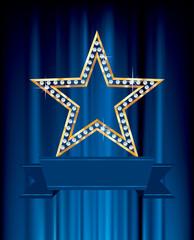 blue banner star