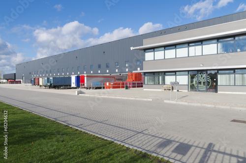 Fotobehang Industrial geb. warehouse exterior