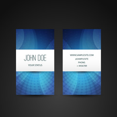 Business Card Template with Blue Background