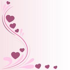 sfondo decorazione cuoricini rosa