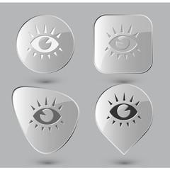 Eye. Glass buttons. Vector illustration.