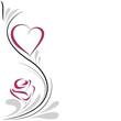 Obrazy na płótnie, fototapety, zdjęcia, fotoobrazy drukowane : cuore e rosa decorazione