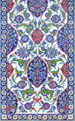 floral ornament on tiles