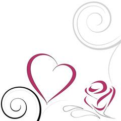 dacorazione amore cuore e rosa