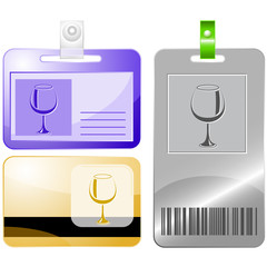 Goblet. Vector id cards.