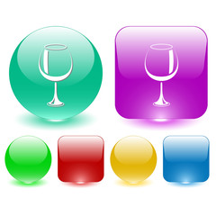 Goblet. Vector interface element.