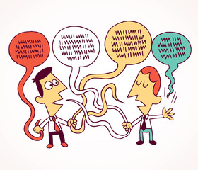 debate, communication concept illustration