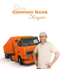 Orange Truck driver
