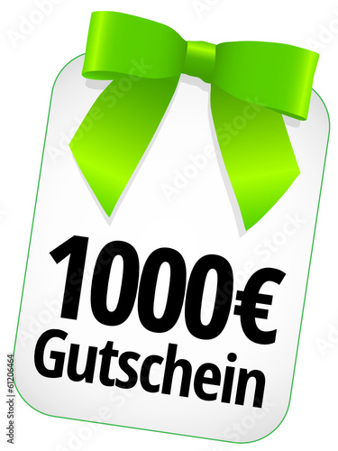 1000 € Gutschein