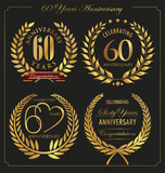 Anniversary golden laurel wreath, 60 years