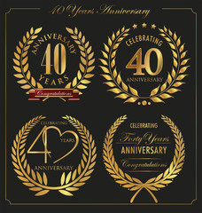 Anniversary golden laurel wreath, 40 years