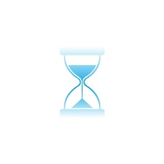 Blue hourglass icon