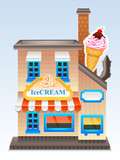 Vector ice cream store
