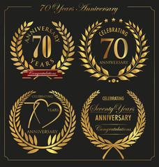 Anniversary golden laurel wreath, 70 years