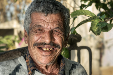 Lebanese Farmer smiling in the fields