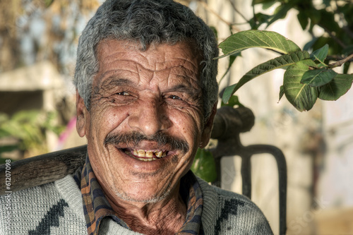 Lebanese Farmer smiling in the fields