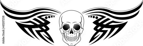 Tattoos tribal and skull