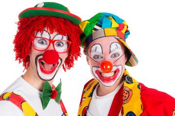 grinsende clowns