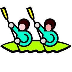 canoe kayak man drawing