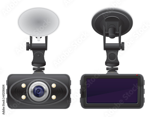car recorder vector illustration