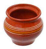 open earthenware pot
